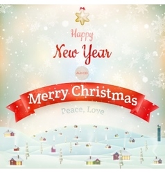 Christmas landscape Poster EPS 10 vector image