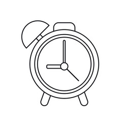 clock time watch alarm outline vector image