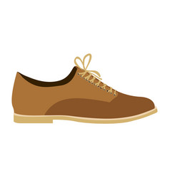 Color silhouette of male leather shoe with vector