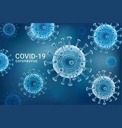 coronavirus 2019-ncov covid-19 virus background vector image