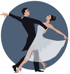 Couple dancing waltz vector