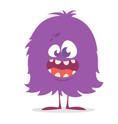 Cute cartoon monster gremlin or troll smiling vector