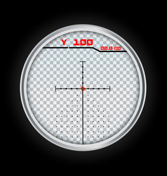 Digital crosshair icon realistic style vector
