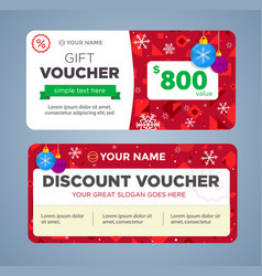 Discount voucher template with colorful pattern vector