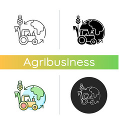 Environmental sustainability in agriculture icon vector
