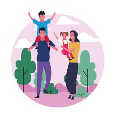 Family group avatar vector