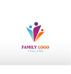 Family logo creative fun logo people creative vector
