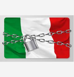 flag italian republic vector image