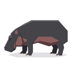 flat geometric hippopotamus2 vector image