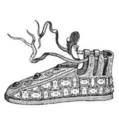 French shoe vintage engraving vector
