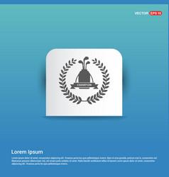 golf champion icon - blue sticker button vector image