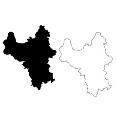Hanoi province map vector
