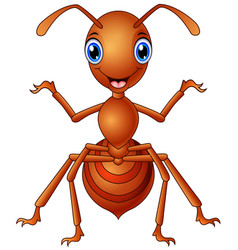 Happy ant cartoon standing vector