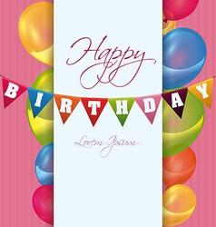 Happy birthday colorful card design vector