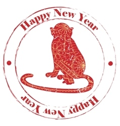Happy new year grunge stamp vector image