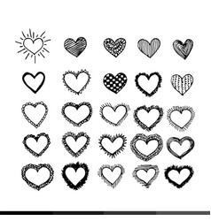 heart icon design vector image