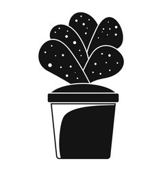 house cacti pot icon simple style vector image