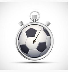 icon stopwatch with a soccer ball vector image