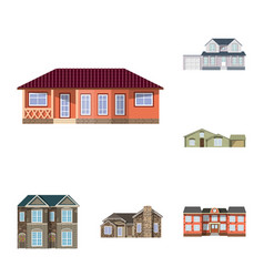 isolated object of building and front symbol set vector image
