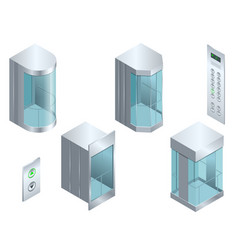 Isometric glass futuristic cylindrical vector
