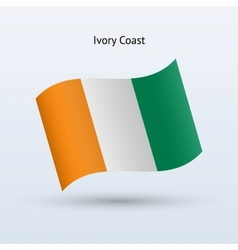 Ivory Coast flag waving form vector image