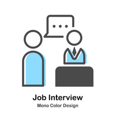 Job interview mono color vector