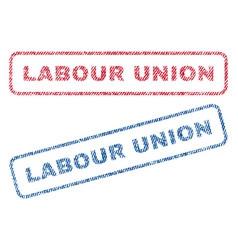 Labour union textile stamps vector