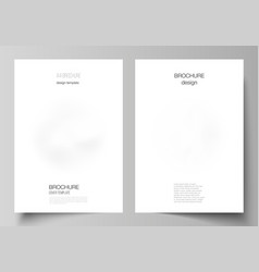 layout a4 cover mockups design templates vector image