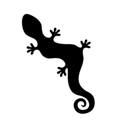 lizard silhouette vector image