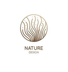 Logo seaweed elements vector