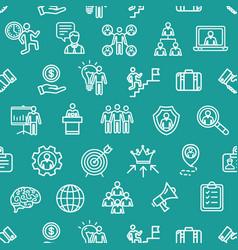 management business pattern background concept vector image