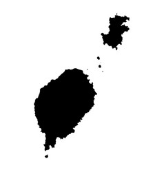Map sao tome and principe country and capital vector