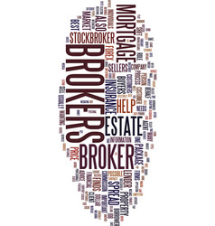 Mortgage broker text background word cloud concept vector