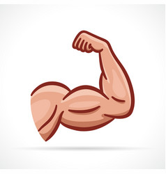 Muscle arm clipart design vector
