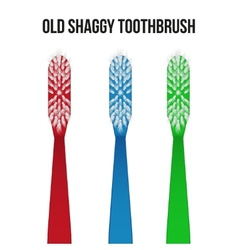 Old toothbrush vector