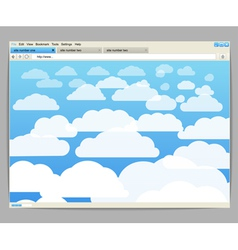 Opened browser window vector
