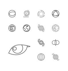 Orbit icons vector