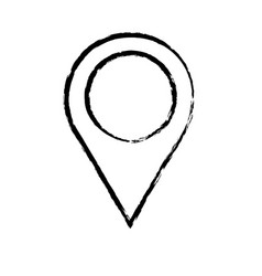 Outlined pointer map navigation image sketch vector