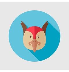Pheasant flat icon Animal head vector image