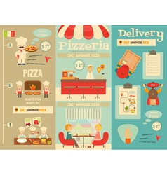 Pizzeria posters vector
