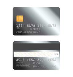 platinum credit card vector image
