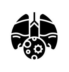 Pneumonia inflammation glyph icon vector