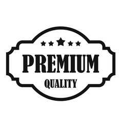 Premium quality label icon simple style vector