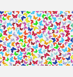 seamless pattern with beautiful butterflies vector image