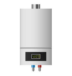 Small boiler mockup realistic style vector