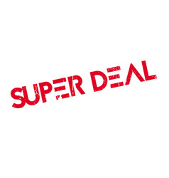 super deal rubber stamp vector image
