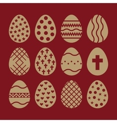 The egg and easter 12 icon Easter egg symbol UI vector
