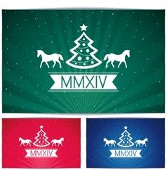 Three Happy christmas eve background vector