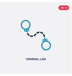 Two color criminal law icon from law and justice vector