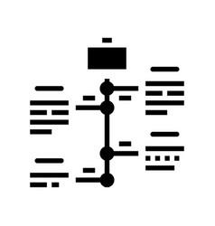 Vcareer growth glyph icon sign vector
